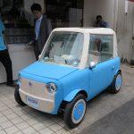 ВЯпонии создали миниатюрный электромобиль с корпусом, похожим наигрушку